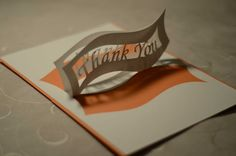Thank You Pop Up Card Ribbon tutorial template