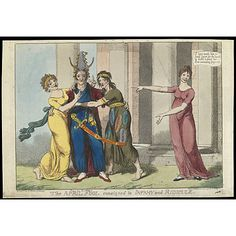The April Fool consigned to Infamy and Ridicule, 1 April 1801, James Gillray. (Victoria & Albert Museum)
