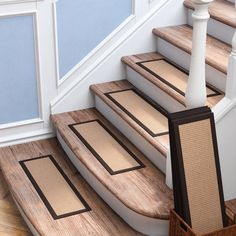 Inventive Staircase Design Tips for the Home – Voyage Afield Seagrass Carpet, Sisal Carpet, Carpet Stair Treads, Carpet Stairs, Stair Makeover, Basement Stairs, Basement Ideas, Staircase Design, Wood Staircase