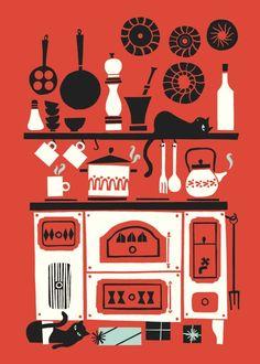 littlechien via cdeiijkkorr3 the-guild-of-the-faceless-men:  Kitchen by Polkka Jam