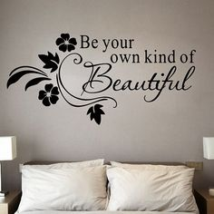 Stylish Removable Letter Pattern Bedroom Decoration Wall Stickers BUY NOW Wall Stickers Quotes, Removable Wall Decals, Wall Decor Stickers, Vinyl Wall Decals, Be Your Own Kind Of Beautiful, Beautiful Wall, Beautiful Moments, Decoration Stickers, Letter Patterns