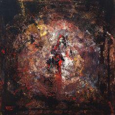 Guru Rinpoche in Red acrylic on canvas, 60 x 60 cm, 北京 2016, Alexander Bukreev…