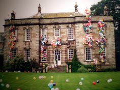 Love the style of this house and the fun ballons