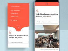 Hey everybody,who was never on a trip booked on Airbnb? It´s a great platform for accomodation 🛌 and also good resource for design inspiration.I choosed the airbnb homescreen to develop a new co. Best Ui Design, Web Design, App Ui Design, Interface Design, User Interface, Design Lab, Sketch Design, Design Concepts, Mobile App Ui