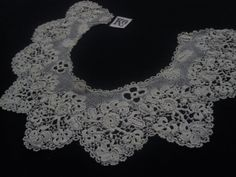 Irish crochet collar.