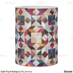 Quilt Top 6 Design Flameless Candle