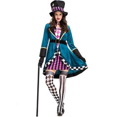 HandZY Womens Halloween Magician Trainer French Lolita Maid Dress Costume Cape Cosplay Adult >>> To learn more, browse through picture link. (This is an affiliate link). Costume Dress, Cosplay Costumes, Mad Hatter, Magician Costume, Designer Tracksuits, Maid Dress, Halloween Party, Halloween Costumes, Costumes For Women