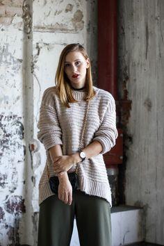 Beiger Jumper - H&M; Culotte - New Look via Asos! Zum Post: https://goo.gl/MSH6wg