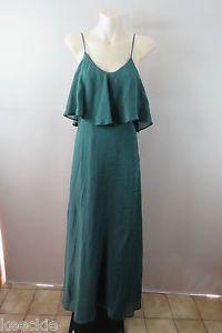 Size 8 XS Ladies Green Maxi Dress Party Chic Boho Hippie Gypsy Feminine Design   eBay