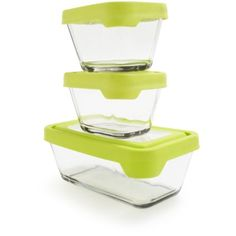 Anchor Hocking Rectangular Glass Storage Containers, Set of 3 | Sur La Table