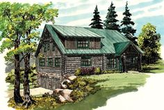 ePlans Log Houses House Plan – Escape To A Rustic Log Hideaway – 2002 Square Feet and 3 Bedrooms from ePlans – House Plan Code HWEPL76649