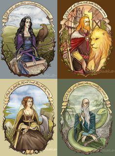 The Four Founders by UnripeHamadryad on DeviantArt