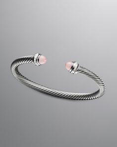 David Yurman Cable Classic Bracelet, Pink Chalcedony - Neiman Marcus