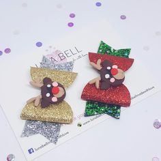 Reindeer with Sparkles Bow