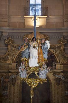 El araceli desciende con el #alma de la virgen #María  #MisteridElx Foto: Sixto Marco