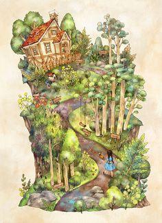 집에 가는 길은 너무나도 익숙해서 머릿속 지도처럼 선명해요. The way home is very familiar as though a map is vividly drawn inside my head.