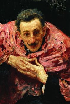Ilya Repin (Russian, 1844-1930), Actor, playwright and stage director V.D. Ratov (S.M. Muratov), 1910. Oil on canv...
