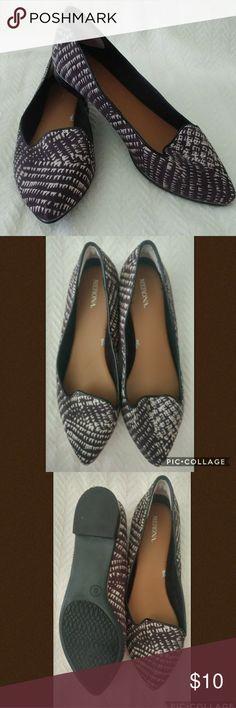 Merona Flats, Sz 8 Brown and cream colored patterned Merona flats. Like new! Merona Shoes Flats & Loafers