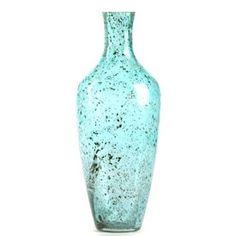 Aqua Pebble Glass Vase at Kirkland's