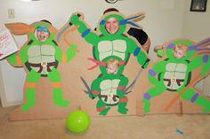 TMNT Ninja Turtles Birthday Party Game Photo Shoot Cardboard Cut-Out