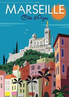 Art Deco Posters, Poster Prints, Poster Poster, Tourism Poster, Ville France, Vintage Travel Posters, France Travel, Custom Posters, Photo Art