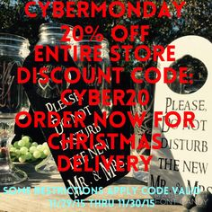 Cyber Monday Sale Entire Store 20% off with by MintJulepsnMuddin