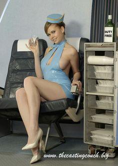 stewardess naked