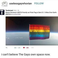 haven't u seen star trek the gays have owned space for 50 years now
