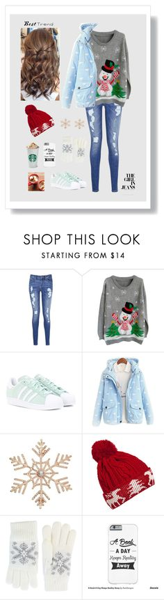 """- Baby, it's cold outside -"" by black-lynx on Polyvore featuring Tommy Hilfiger, adidas Originals, John Lewis, WithChic and Fits"