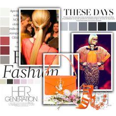 Fashion Trendy Outfit Orange Elegant Lady Style