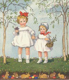 Children At Easter Postcard
