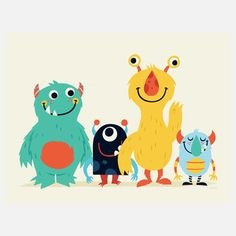 This guy makes such nice illustrations. Perfect for kids rooms, mainly cause all the monsters are friendly and cute :)