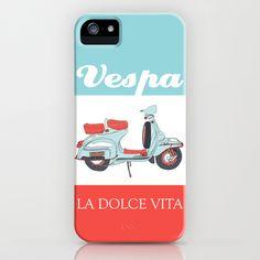 La Dolce Vita - 2 - Vespa poster iPhone Case by BLUEBUTTON STUDIO - $35.00
