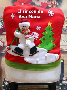 Christmas Santa Claus Chair Back Cover Snowman Elk Ski Dinner Table Party Decor merry christmas navidad Number: Christmas Backrest Chair Coveris_customized: YesUsage: ChairMaterial: CottonBrand Name: LAIMALAName: Decor Chairs CoverPlace of Christmas Applique, Christmas Items, Christmas Snowman, Red Christmas, Christmas Stockings, Christmas Crafts, Christmas Decorations, Chair Back Covers, Chair Backs