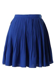 Cobalt Pleated Skirt