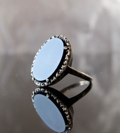 Fin-de-siecle. Mournimg ring with onyx