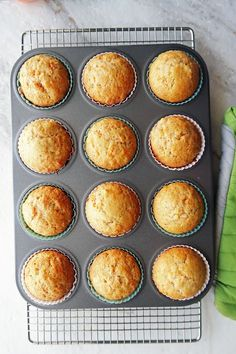 A dozen golden brown baked Easy Carrot Pineapple Muffins in a muffin tin. Easy Carrot Cake, Carrot Cake Muffins, Chocolate Muffins, Easy Snacks, Easy Desserts, Dessert Recipes, Cupcake Recipes, Healthy Desserts, Carrot Recipes