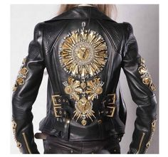 Postapokalyptische Mode: Foto - Vintage Leather Jacket Styles by Bobberbrothers - Mode Outfits, Fashion Outfits, Womens Fashion, Top Mode, Post Apocalyptic Fashion, Vintage Leather Jacket, Leather Jackets, Embroidered Leather Jacket, Motorcycle Style