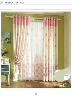 High Quality Floral Pink Rustic Curtains for Living RoomBedroom Princess Sheer Curtains+Drapes Cortinas Para Sala Custom Made Layered Curtains, Brown Curtains, Yellow Curtains, Drop Cloth Curtains, Floral Curtains, Colorful Curtains, Sheer Curtains, French Curtains, Double Curtains