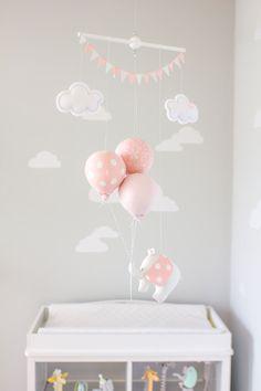 PInk Elephant Baby Mobile Mädchen Kinderzimmer Dekor Pink