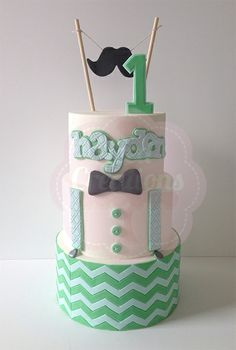 Little boys first birthday cake