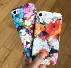 NEW Top Quality Luxury Fashion Hard PC Beautiful Flower Phone Case Cover For iphone 7 6 6S Plus Retro Flowers Capa Floral Coque