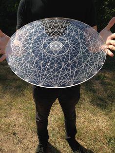 Hypermetatron Laser Cut Crystal Grid Artwork Sacred Geometry Symbols, Sacred Geometry Tattoo, Acrylic Mirror, Clear Acrylic, Gravure Laser, Yoga Studio Design, Laser Art, Fibonacci Spiral, Support Mural