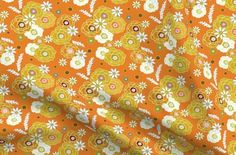 In The groove Secondary Floral ~ ©Claude - Spoonflower