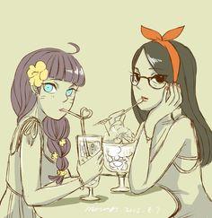 Sarada and Himawari the uchiha sisters