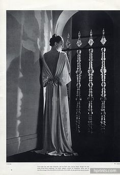Chanel 1935 Evening Gown, Photo Lipnitzki