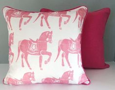 Pink cushions made w