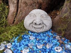 Laughing Stone Rock Face  Friend and by LittleLaurelShoppe on Etsy, $18.99