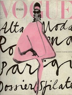 Vintage Vogue Poster - Vogue Italia Lady in Pink Vogue Pink Poster, Vogue Pink Art, Vogue Cover Poster, Vogue Cover Print - 2019 Vogue Vintage, Vintage Vogue Covers, Vintage Fashion, Trendy Fashion, Vintage Art, Moda Vintage, Style Fashion, Vintage Stuff, High Fashion
