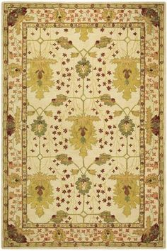 Bishop Area Rug  5' x 8' $379  Ivory (with chartreuse, brown, & rust)